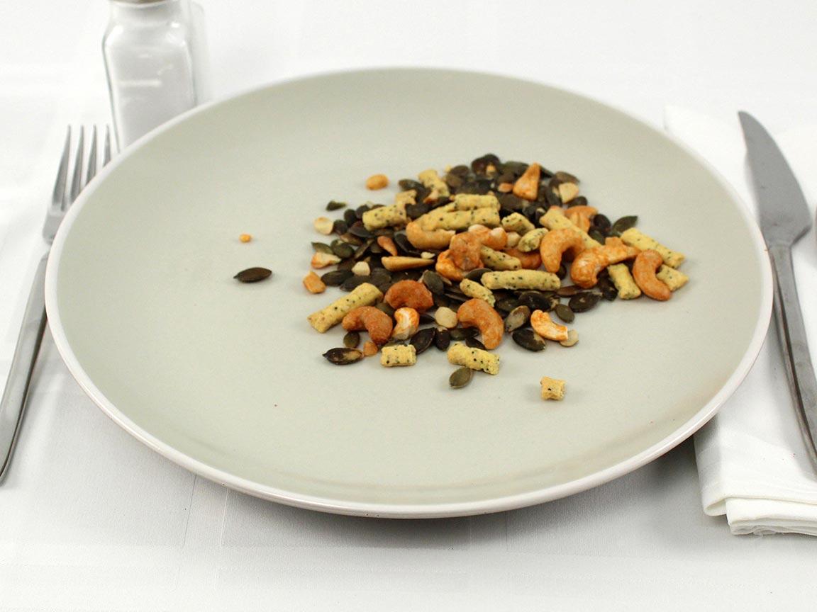 Calories in 42 grams of Graze Everything Bagel