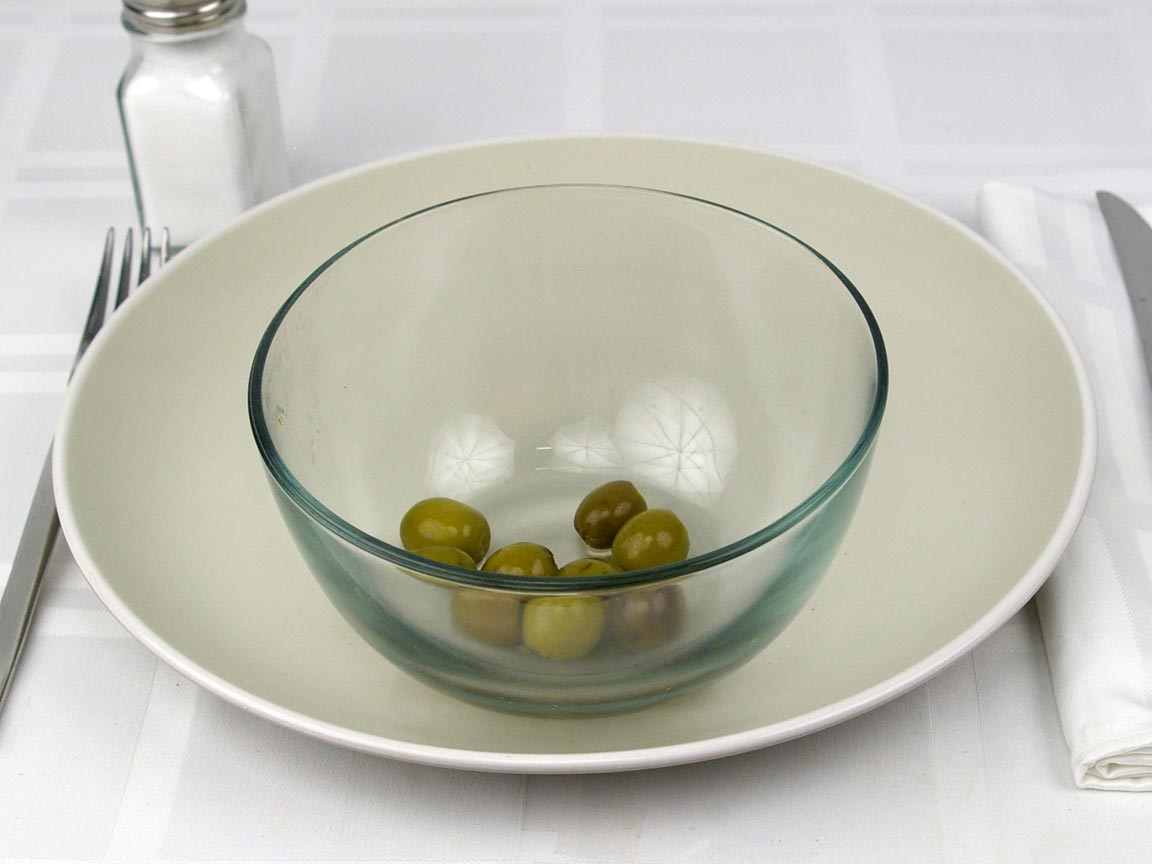 Calories in 27 grams of Green Olives