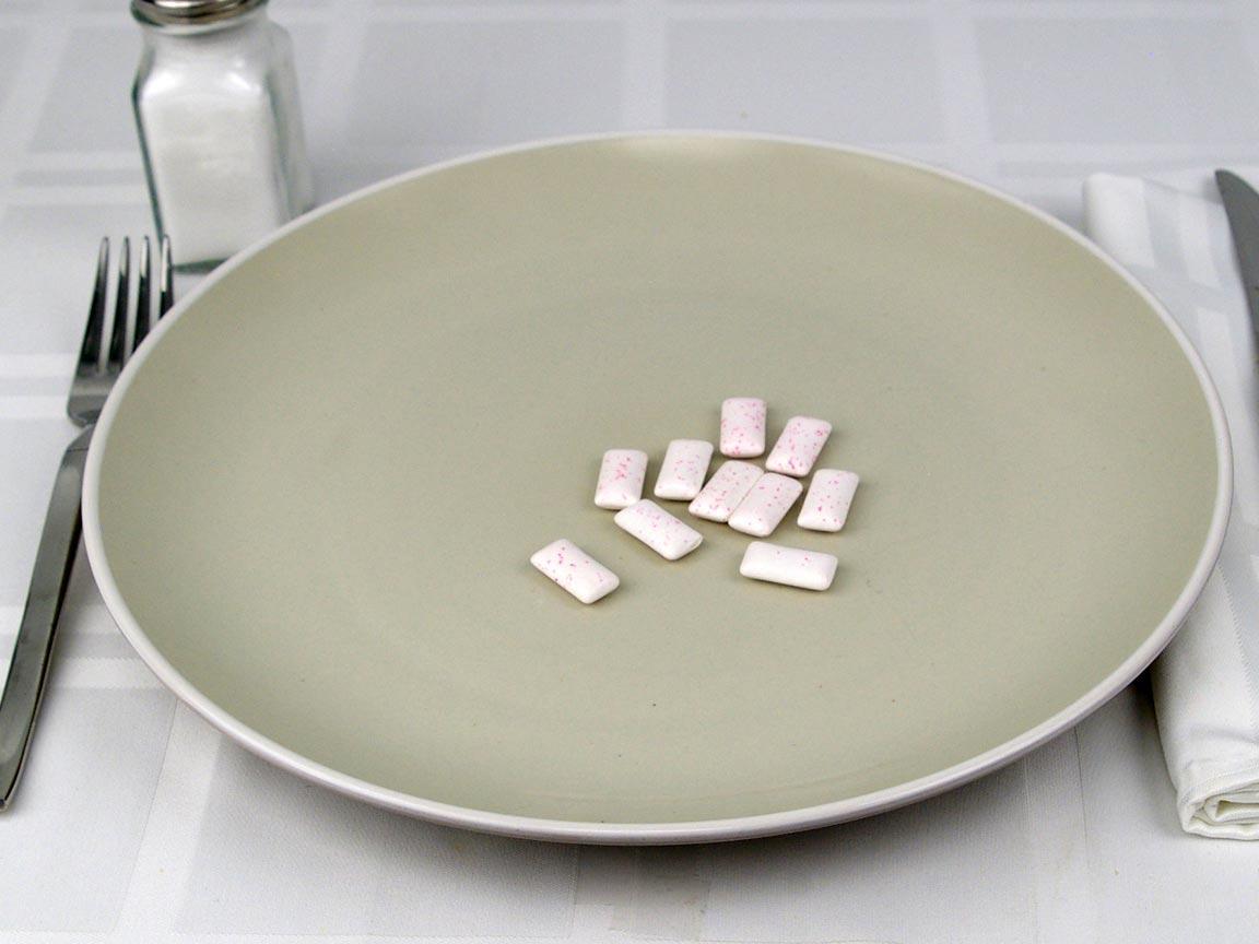 Calories in 10 piece(s) of Orbitz Sugar Free Gum