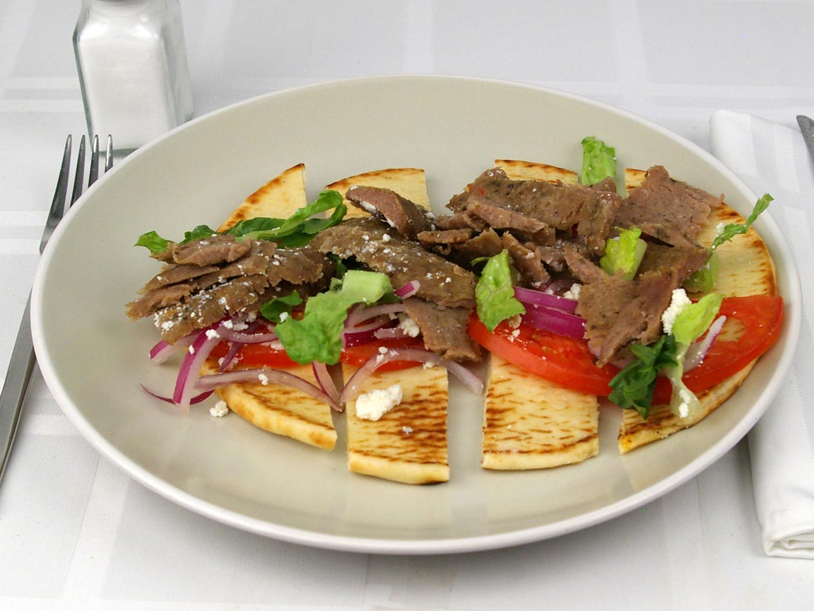 Calories in 1 gyro(s) of Gyro - Beef and Lamb - Feta - No Tzatziki