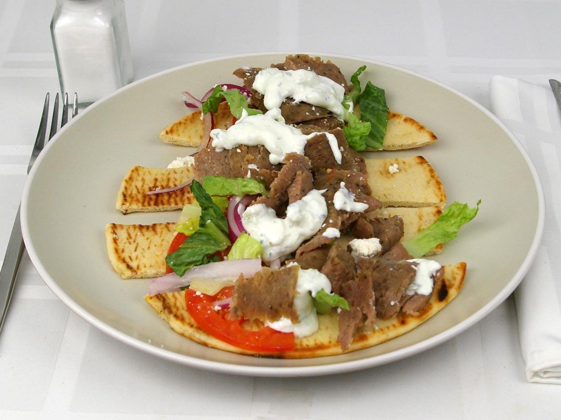 Calories in 1 gyro(s) of Gyro - Beef and Lamb - Feta - Tzatziki 2Tbsps