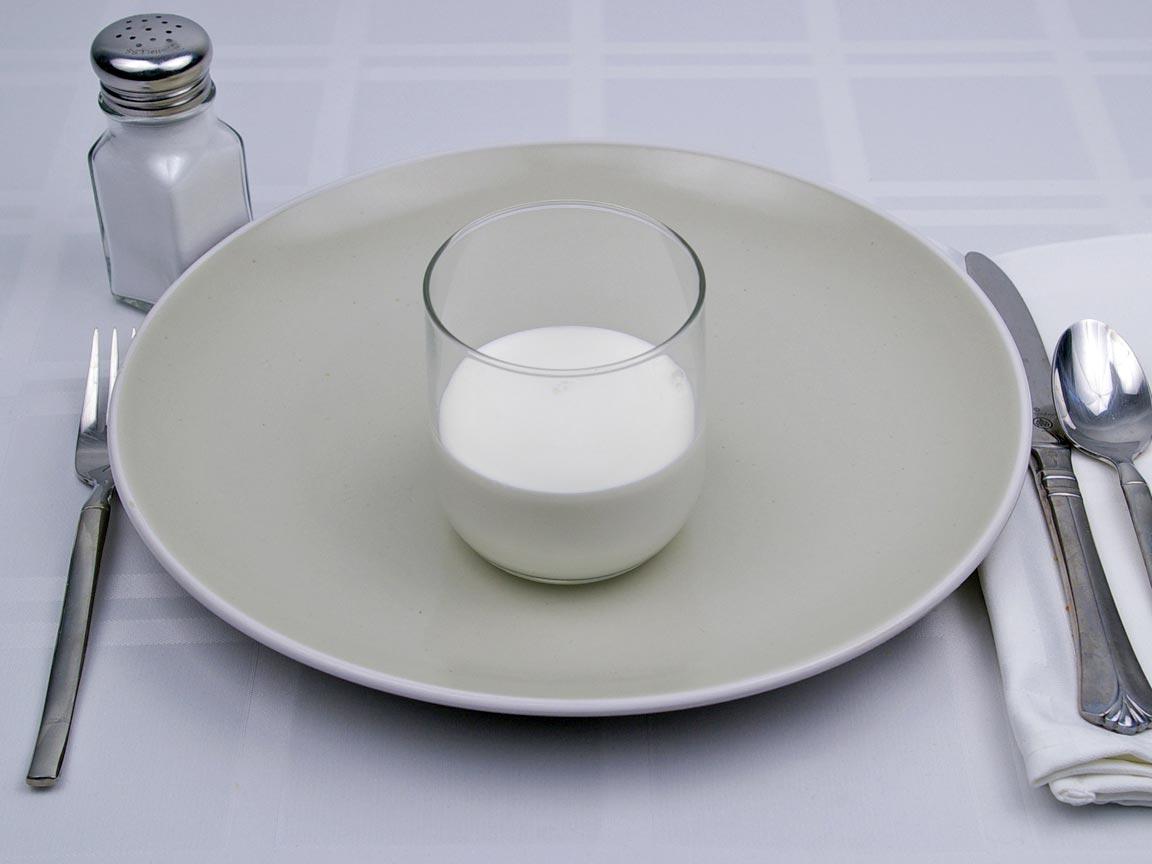 Calories in 8 tbsp(s) of Cream - Half and Half - Fat Free