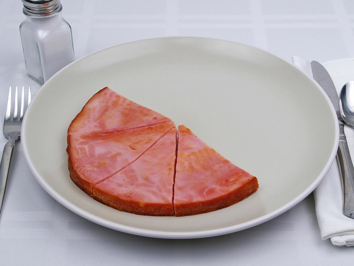 Calories in 4 piece(s) of Ham Steaks -Lean