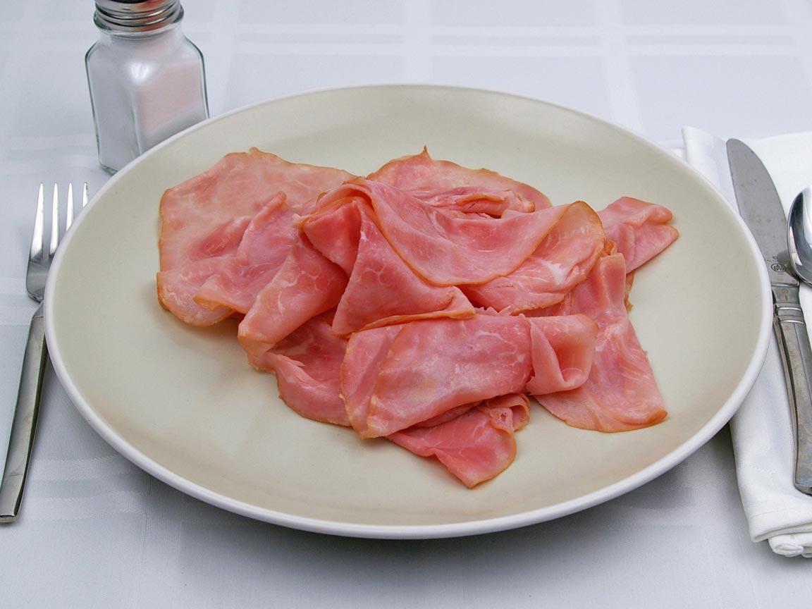 Calories in 18 slice(s) of Ham - Deli Sliced