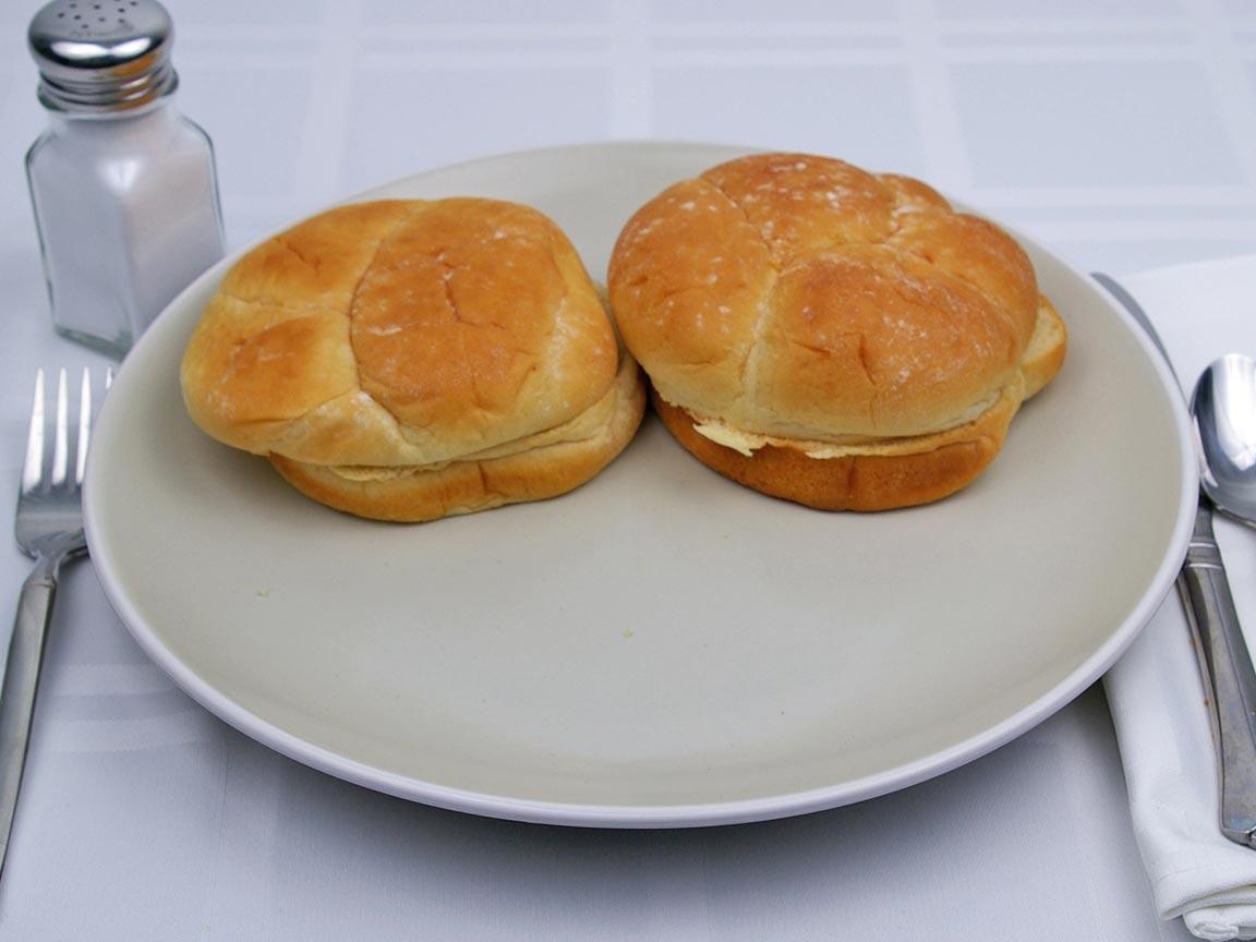 Calories in 2 bun(s) of Hamburger Bun - Reduced Calorie