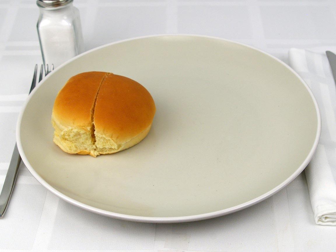 Calories in 1 bun(s) of Hamburger Bun