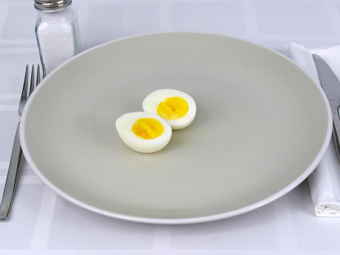 Calories in 1 ea(s) of Hard Boiled Egg Large