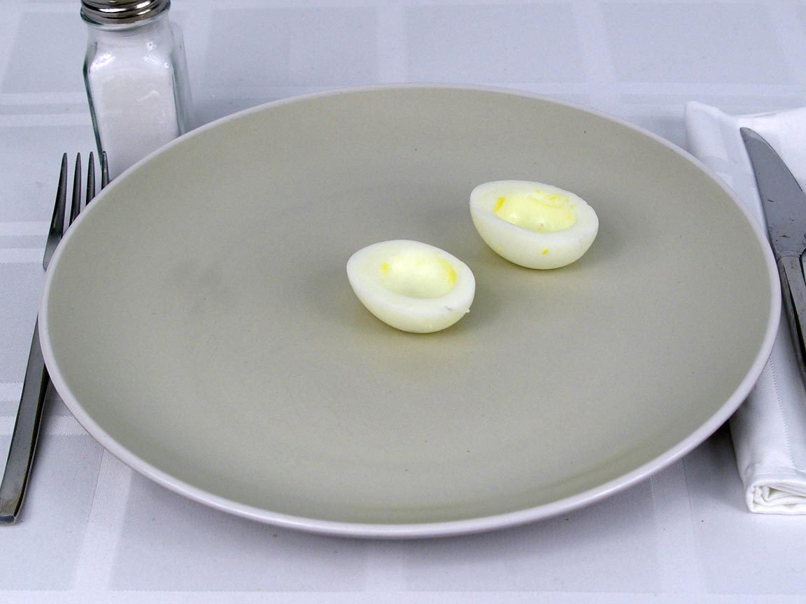 Calories in 1 ea(s) of Hard Boiled Egg Whites