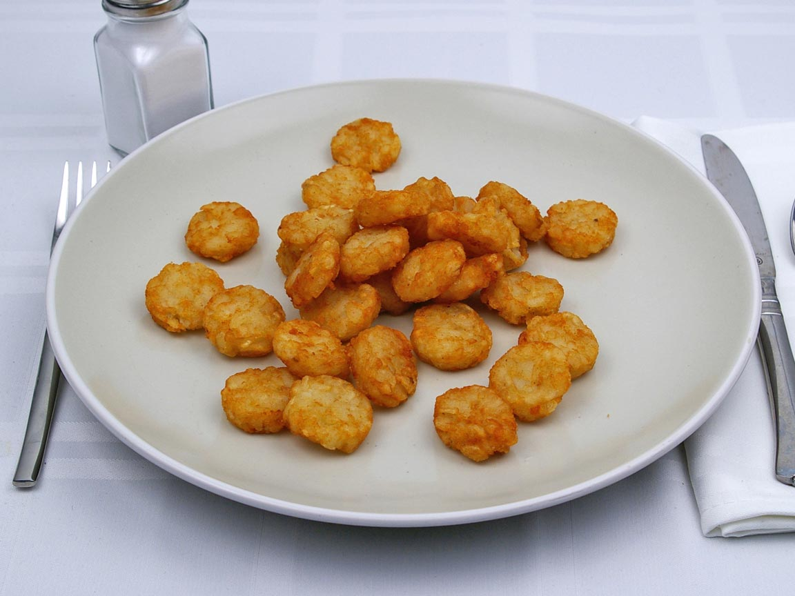 Calories in 0.75 large of Burger King - Hash Browns Nuggets