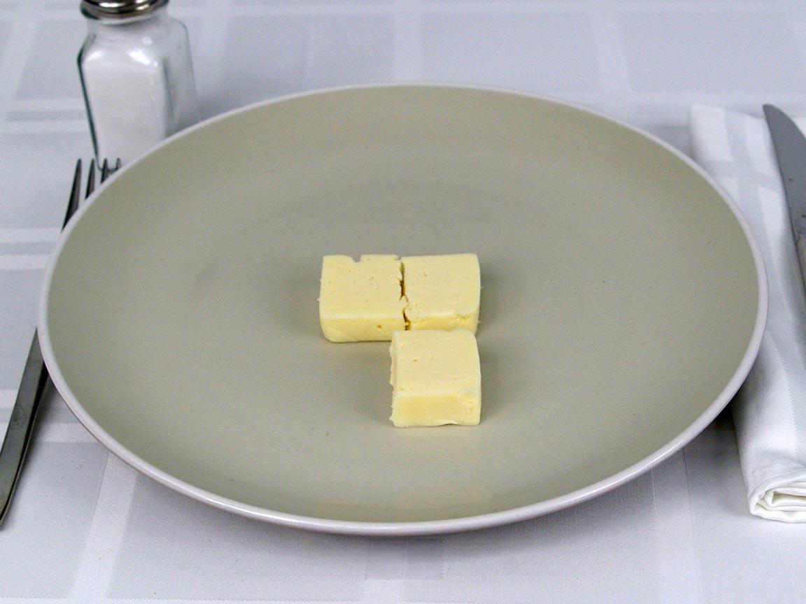 Calories in 85 grams of Havarti Cheese