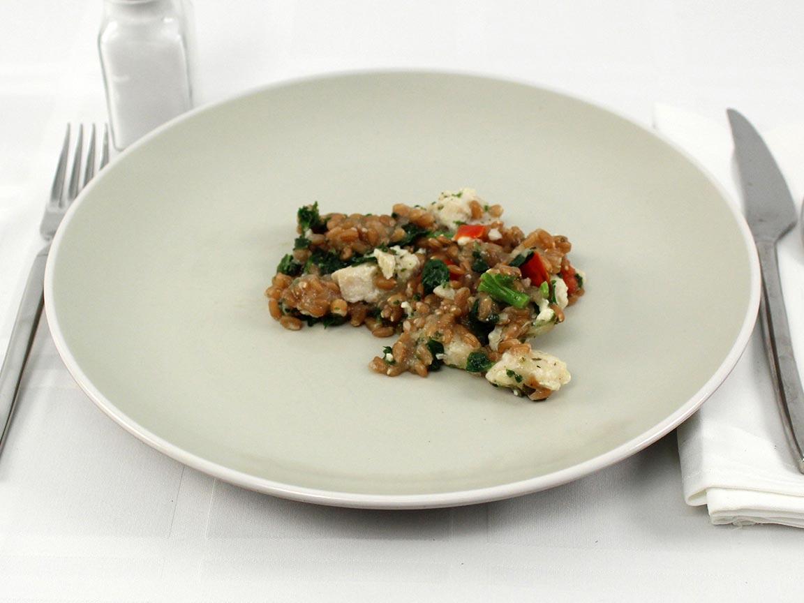 Calories in 0.5 package(s) of HC Power Bowl - Chicken, Feta, Farro