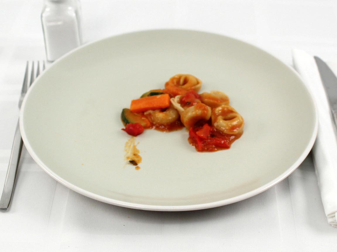 Calories in 0.5 package(s) of Healthy Choice Tortellini Primavera