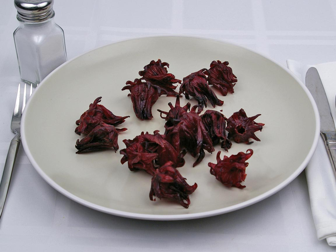 Calories in 1 cup(s) of Hibiscus Flowers - Dried
