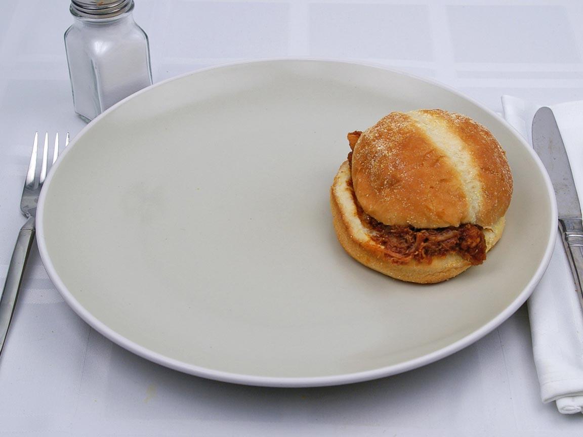 Calories in 1 sandwich(es) of Kentucky Fried Chicken - Honey BBQ Sandwich