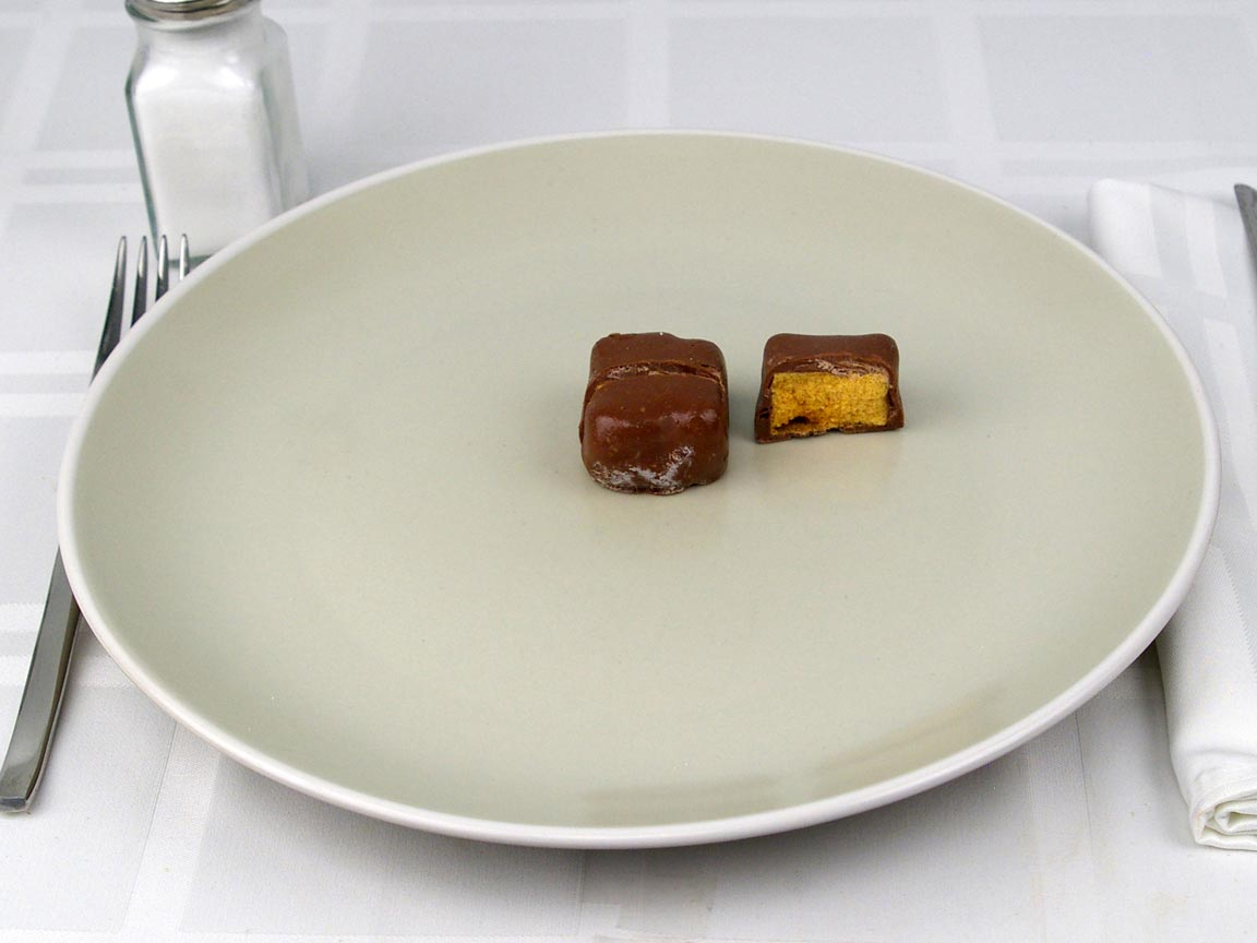 Calories in 1.5 piece(s) of Chocolate Covered Honeycomb Candy