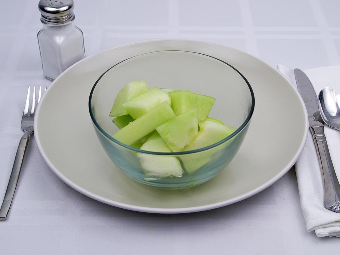 Calories in 255 grams of Honeydew Melon