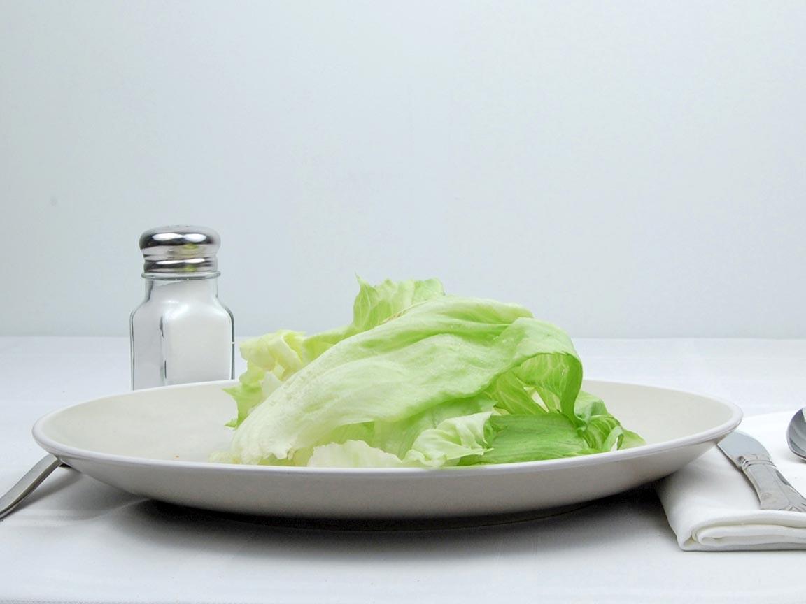 Calories in 56 grams of Iceberg Lettuce