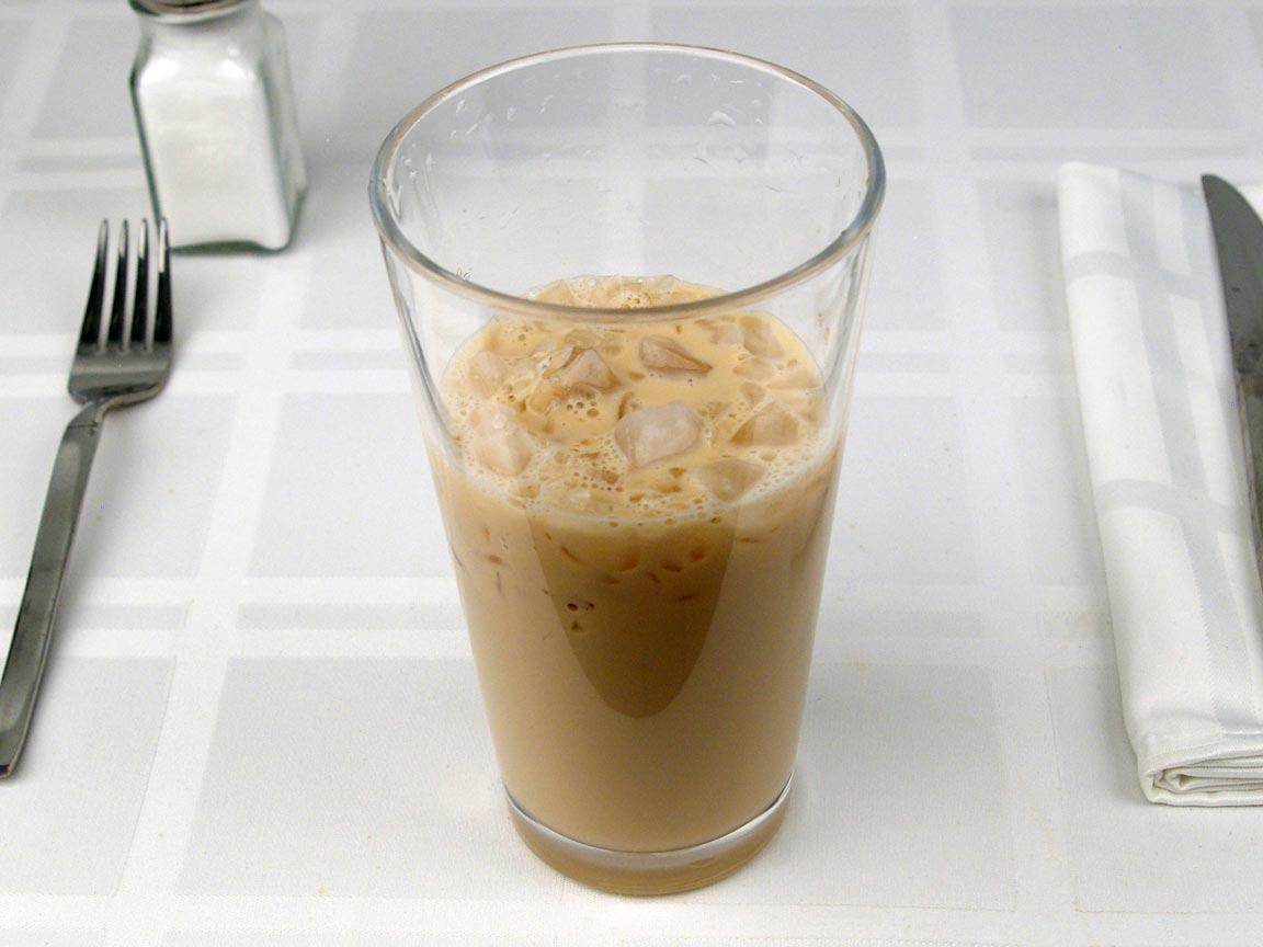 Calories in 0.63 grande of Starbucks Iced Latte 2% - Grande