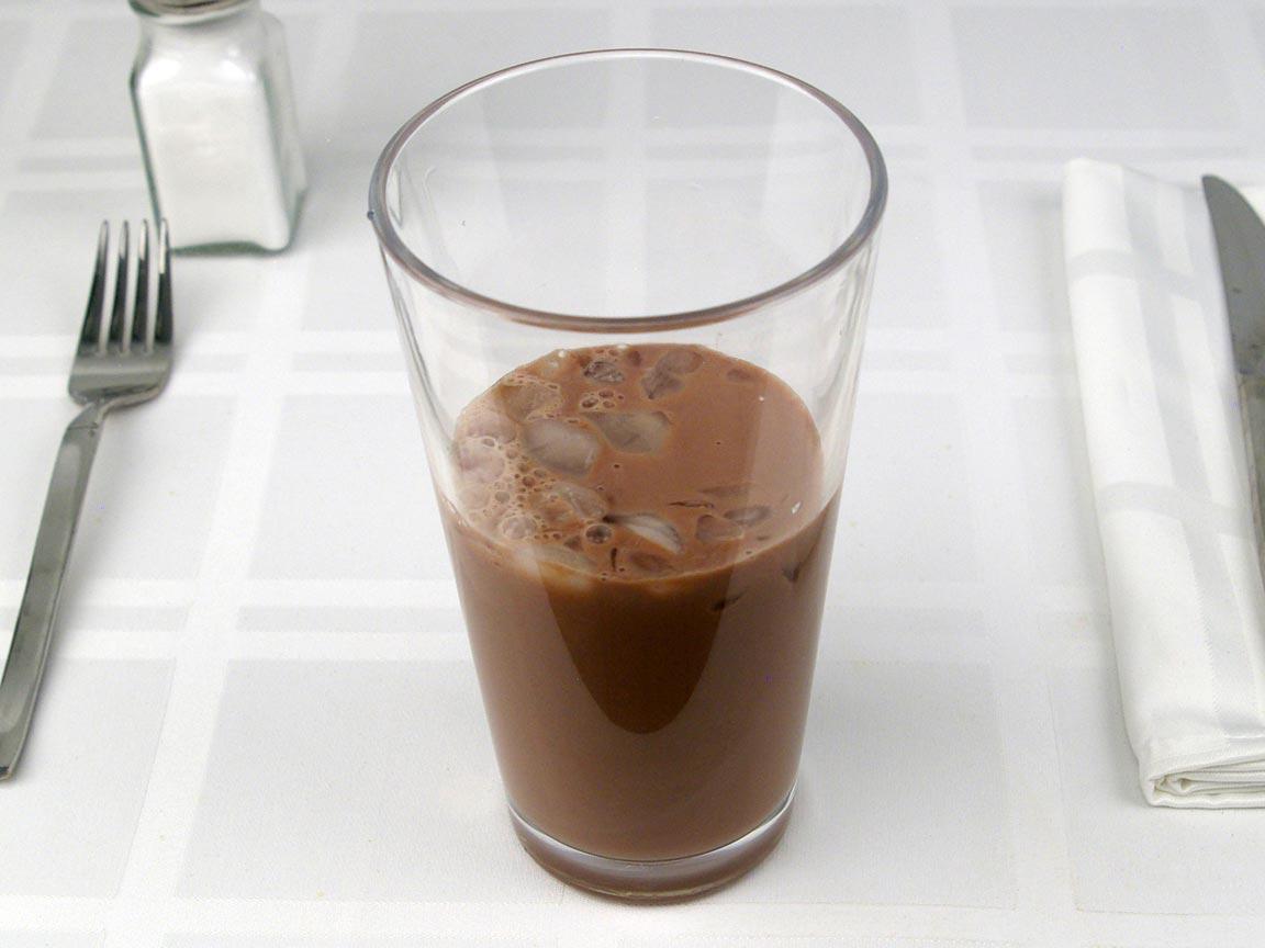 Calories in 0.63 grande of Starbucks Iced Mocha Latte 2% - Grande