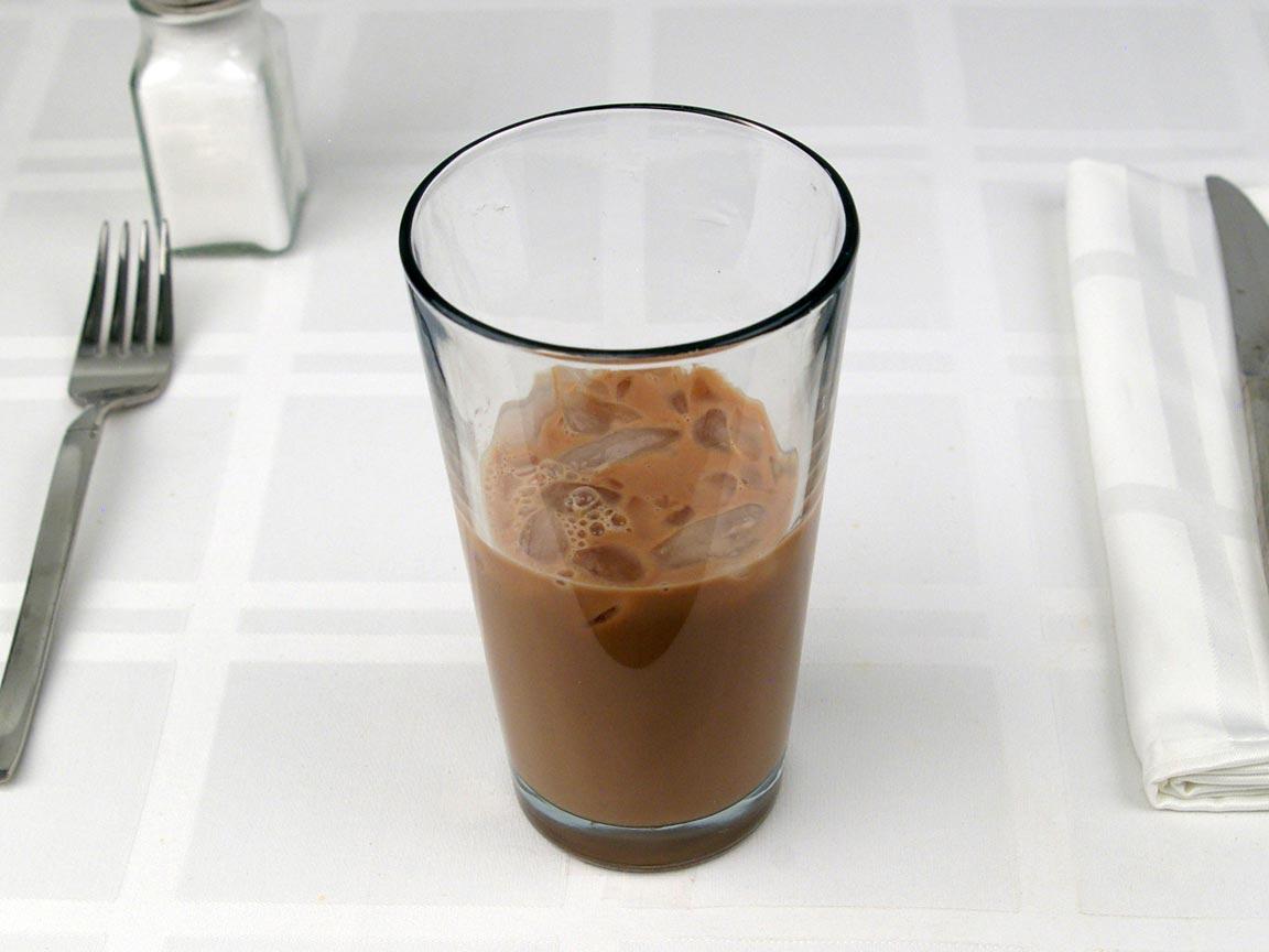 Calories in 0.5 tall of Starbucks Iced Mocha Latte 2% - Tall