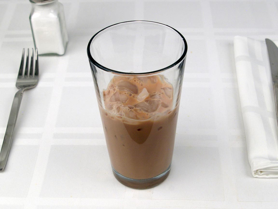 Calories in 0.5 tall of Starbucks Iced Mocha Latte Whole - Tall