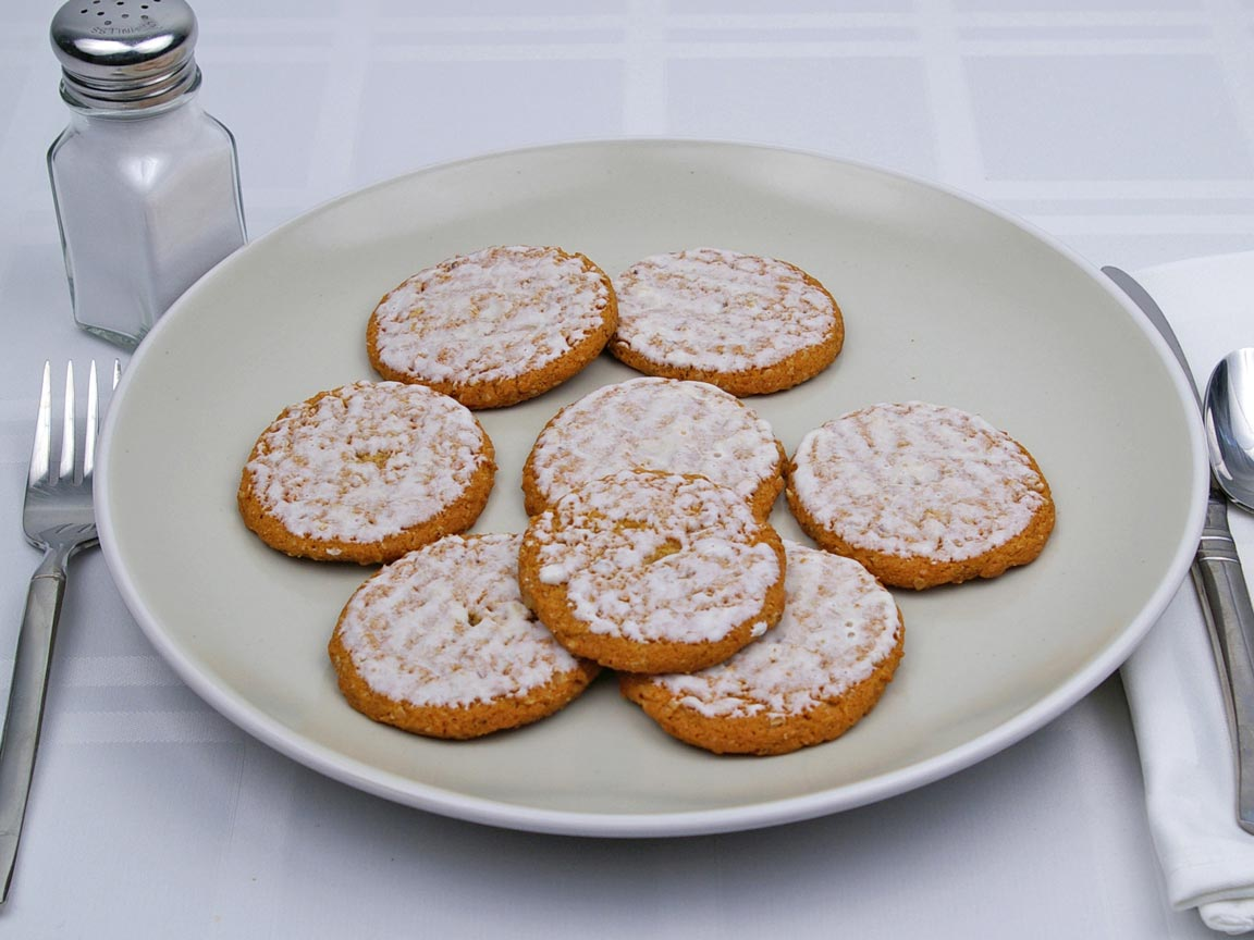 Calories in 8 cookie(s) of Iced Oatmeal Cookie