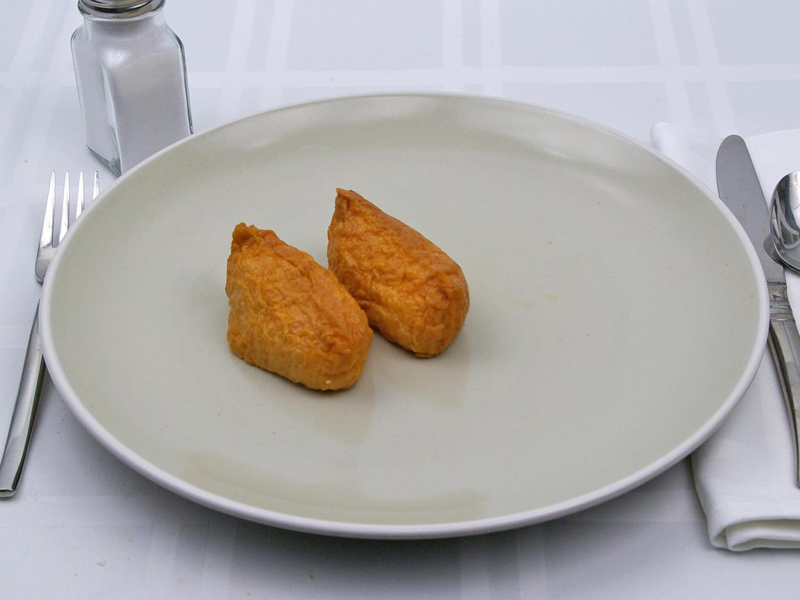 Calories in 2 piece(s) of Inarizushi - Soy Bean Curd