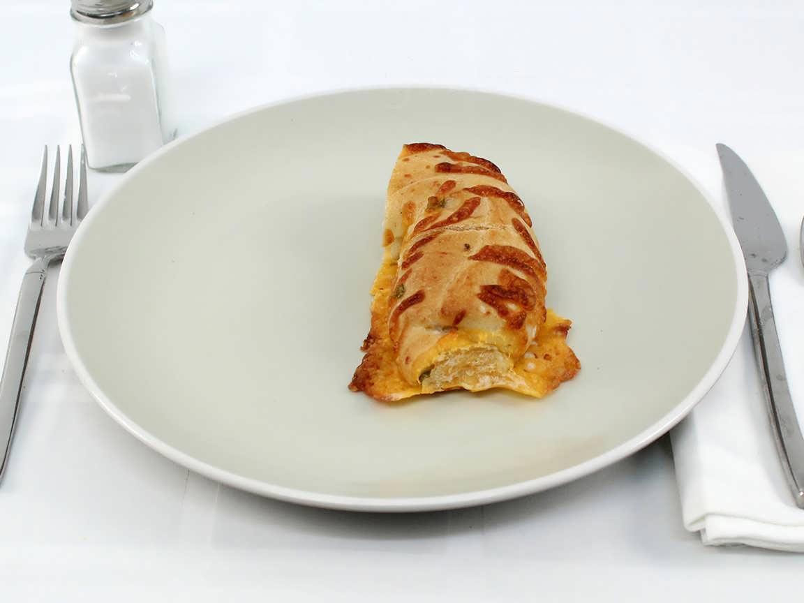 Calories in 0.96 bagel(s) of Jalapeno Cheddar Bagel
