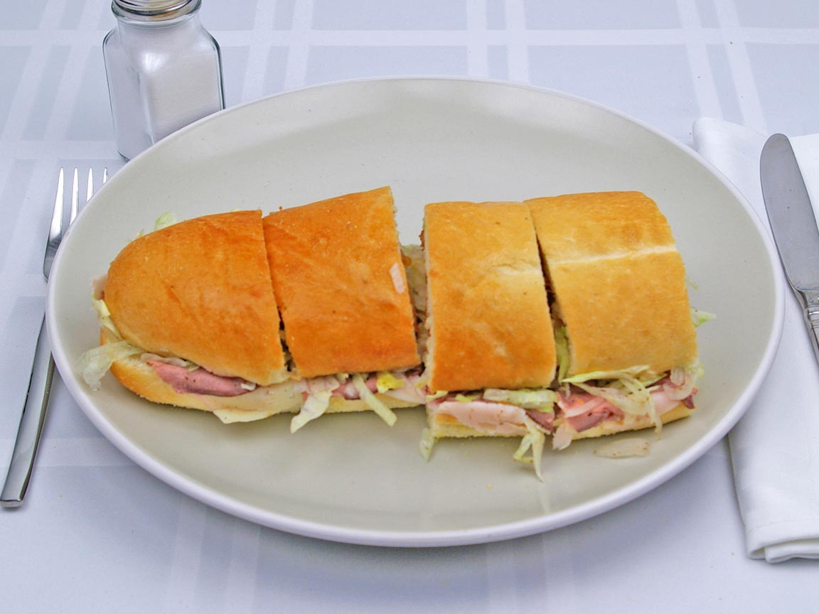 Calories in 1 regular(s) of Jersey Mike's Club Supreme Sandwich