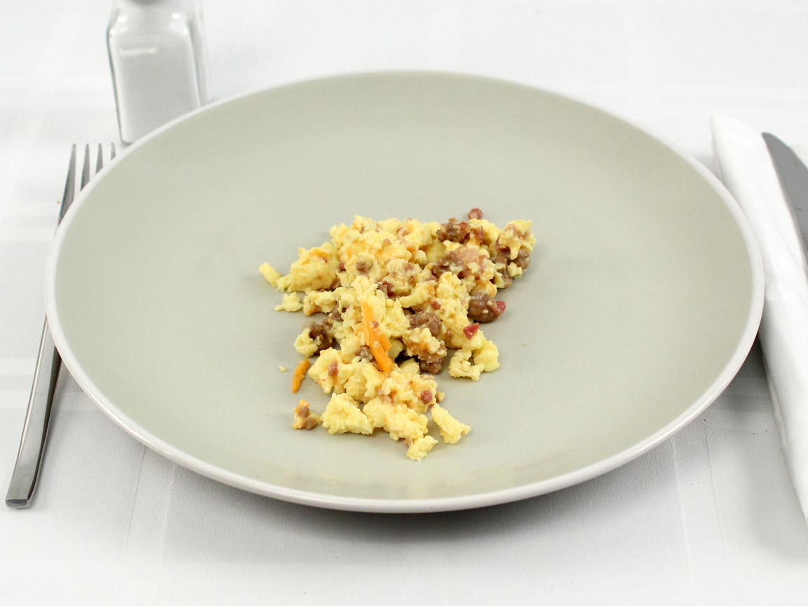 Calories in 0.5 single cup(s) of Jimmy Dean Scrambles Meat Lovers