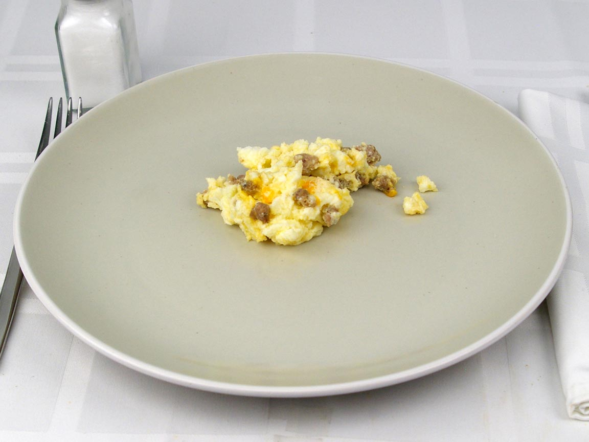 Calories in 0.5 package(s) of Simple Scrambles- Turkey Sausage