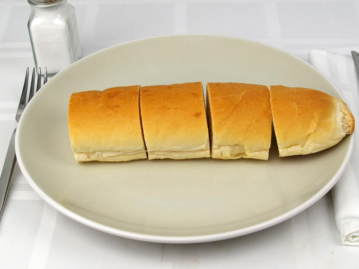 """Calories in 8 inch(es) of Jimmy John's French Bread """"Leave Bread In"""""""