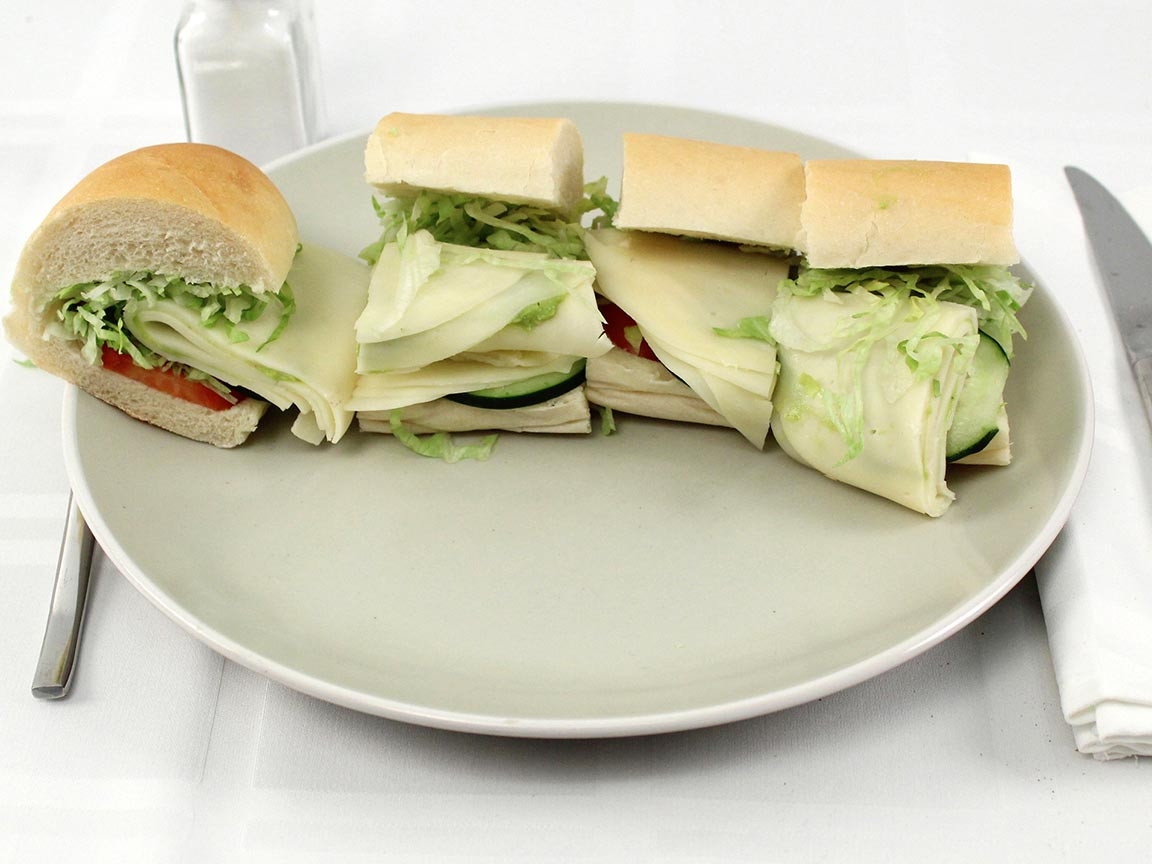 Calories in 1 8 inch(s) of Jimmy John's #13 Gourmet Veggie Club