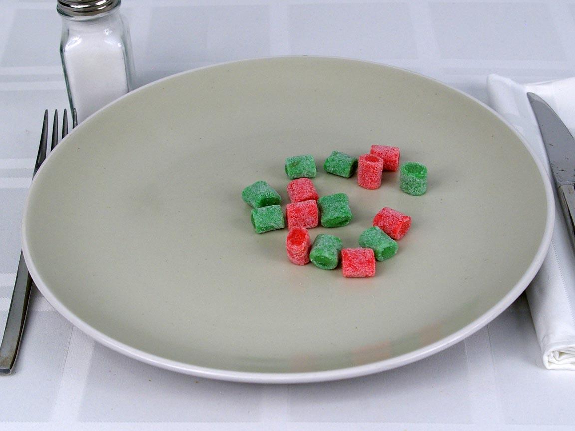 Calories in 15.02 ea(s) of Jolly Rancher Bites