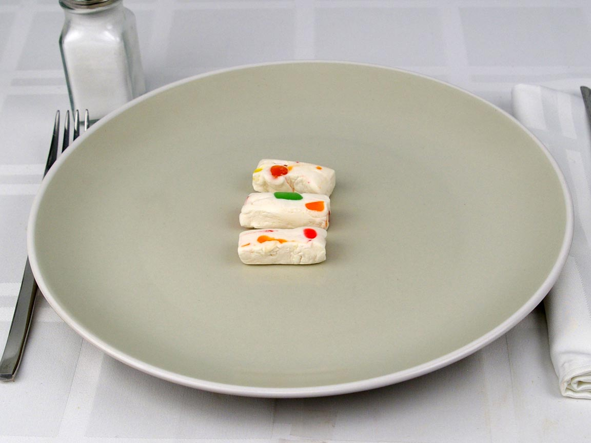 Calories in 3 piece(s) of Jujube Nougat Candy