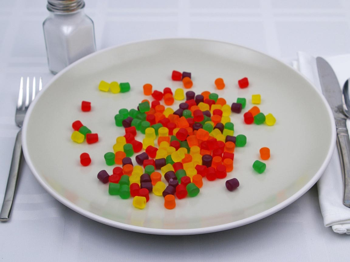 Calories in 139 grams of Jujubes