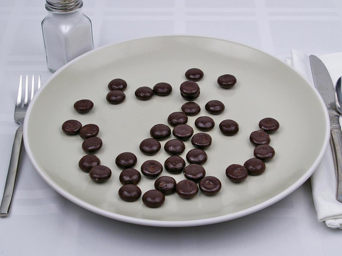 Calories in 40 piece(s) of Junior Mints