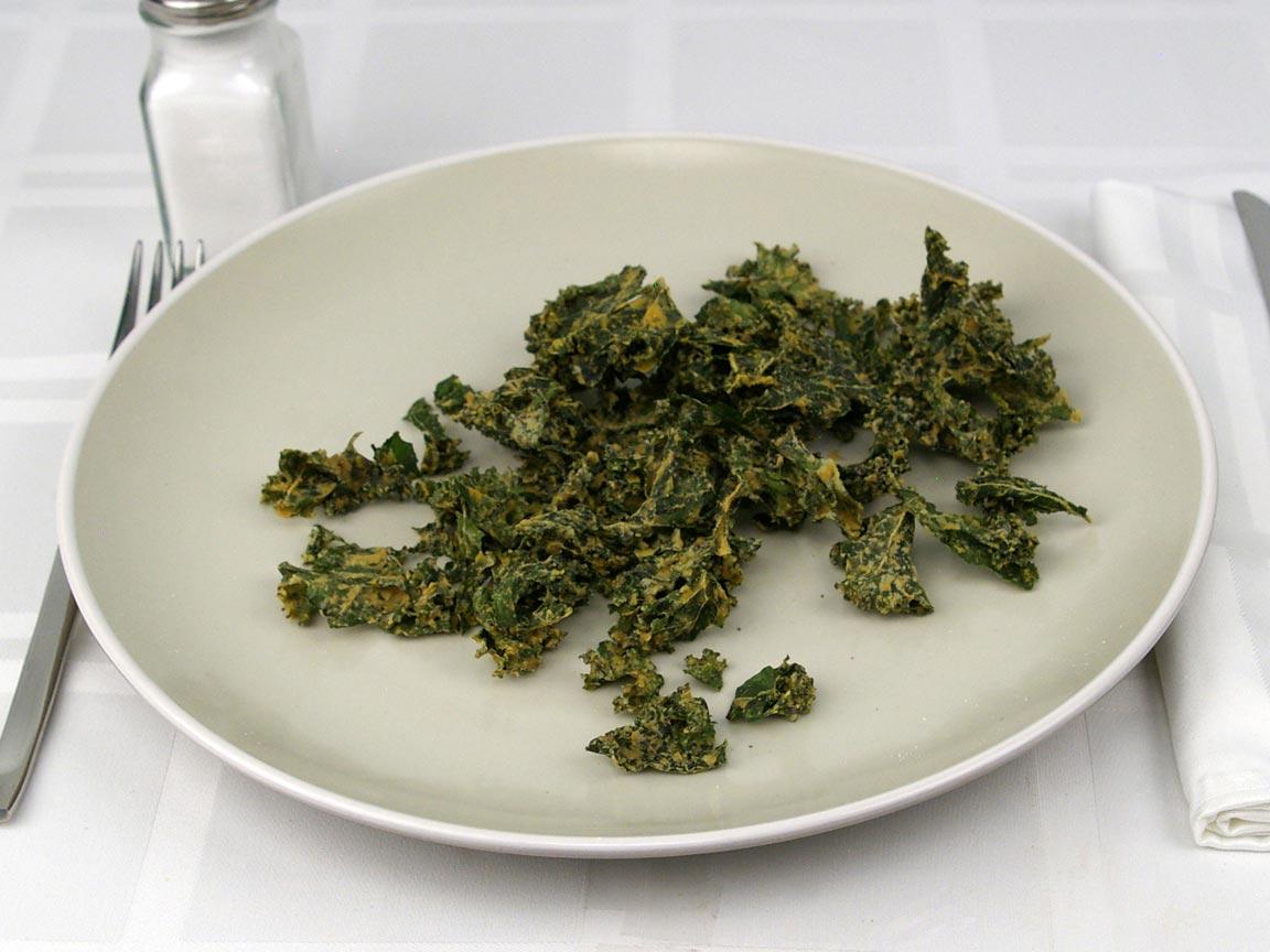 Calories in 28 grams of Seasoned Kale Chips