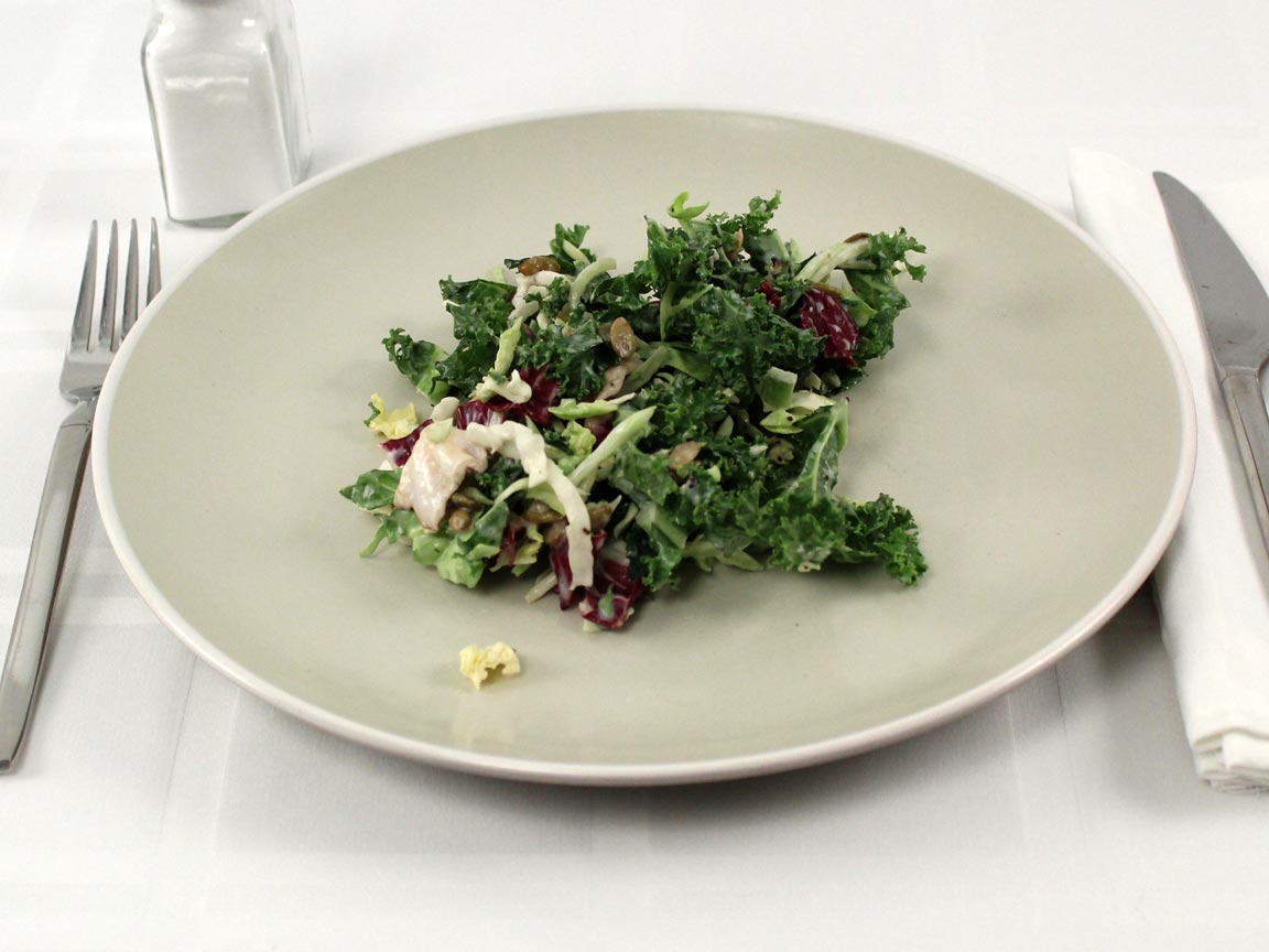 Calories in 1 cup(s) of Kale Vegetable Salad with dressing