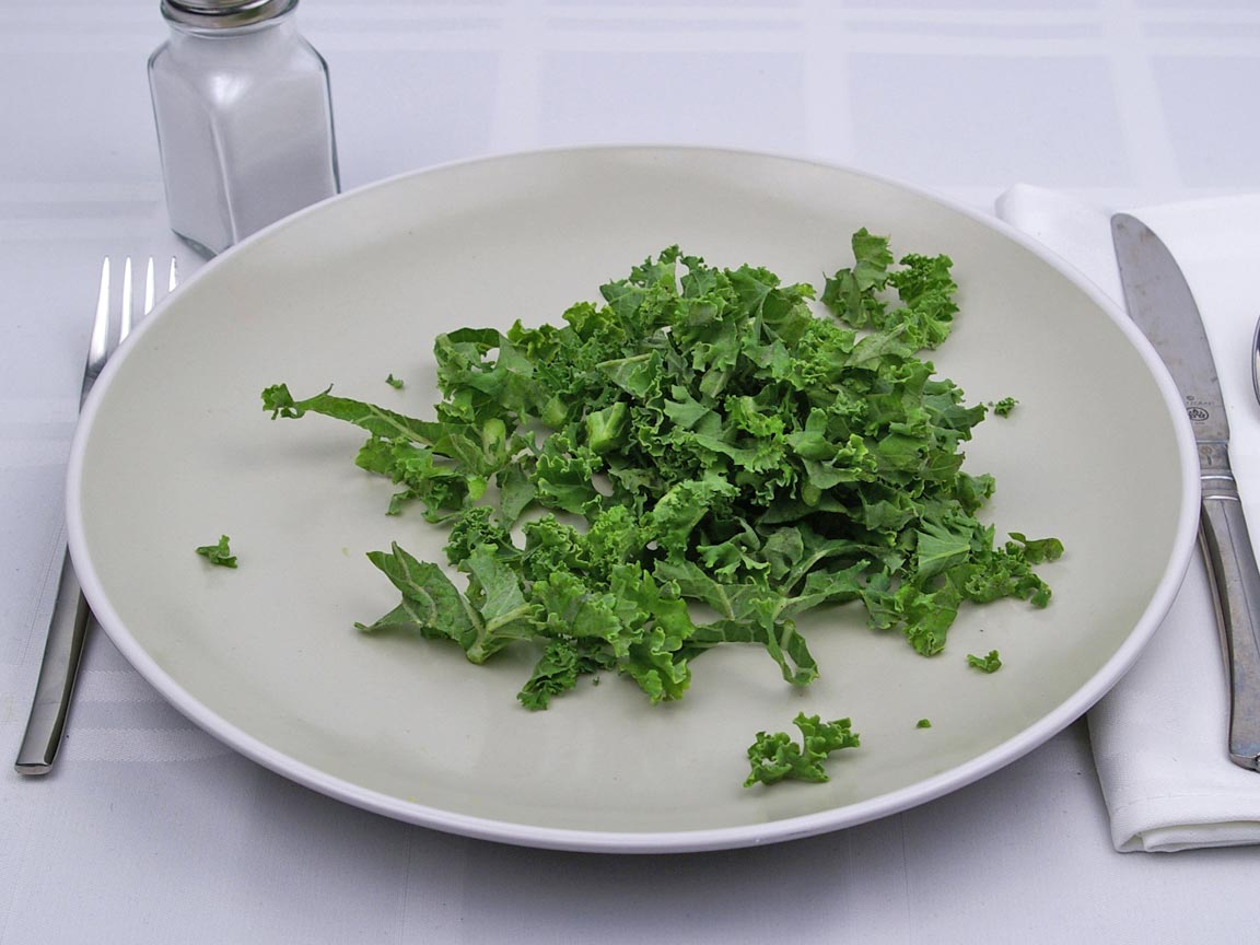 Calories in 1 cup of Kale - Raw