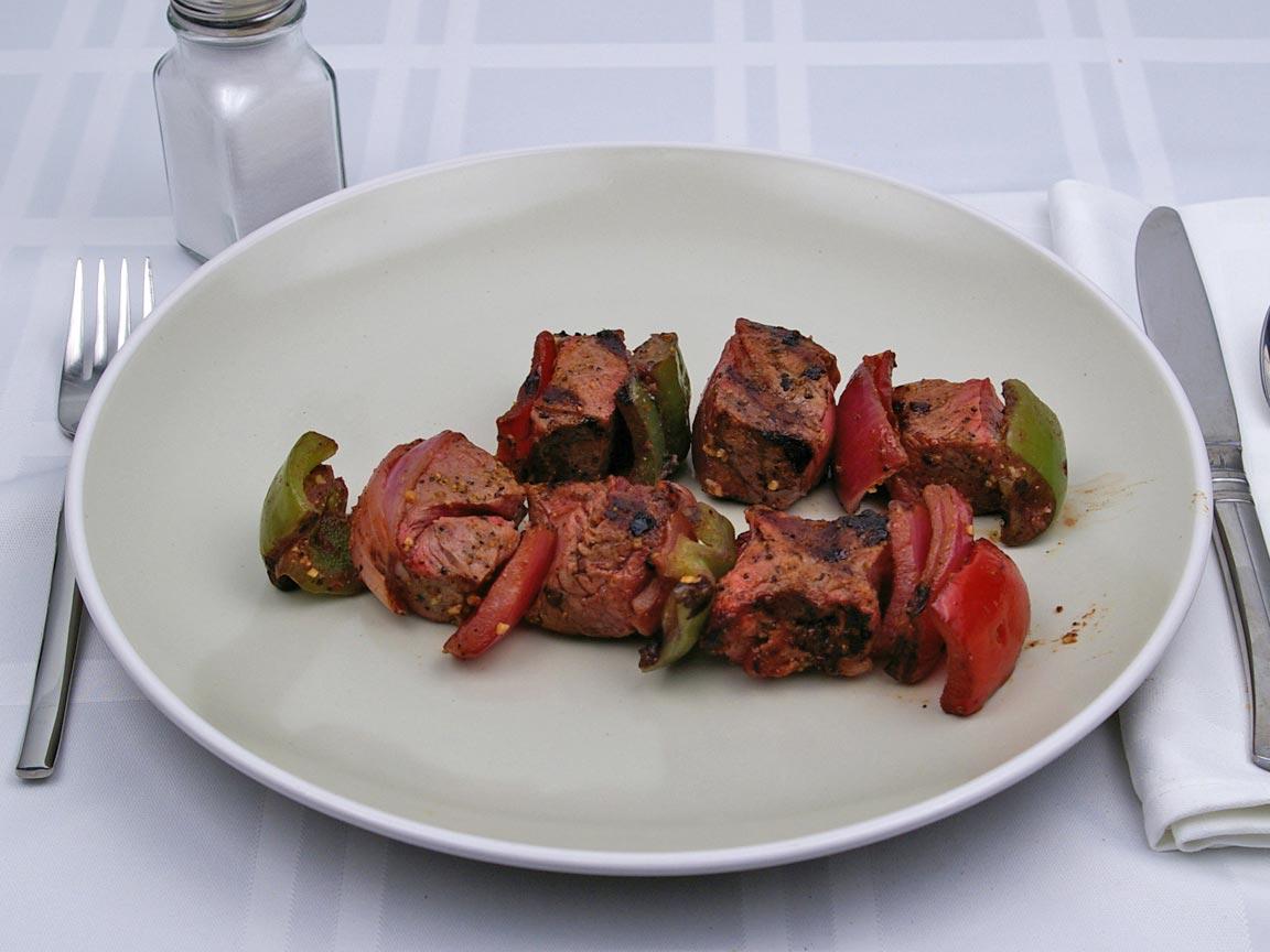Calories in 255 grams of Kebab Beef