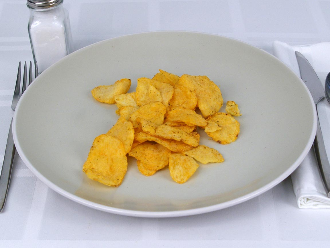Calories in 28 grams of Kettle Chips 40% Less Fat