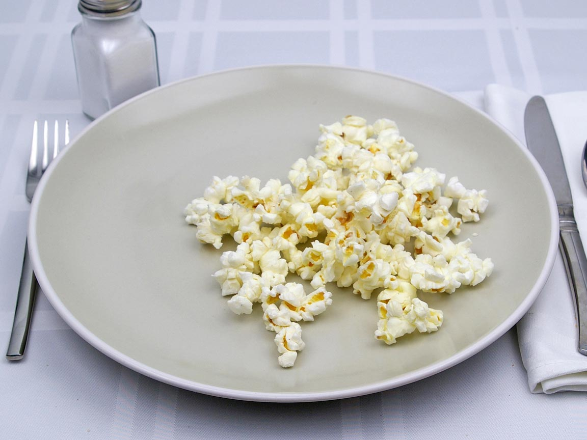 Calories in 1.25 cup(s) of Popcorn - Kettle Corn -Micowave