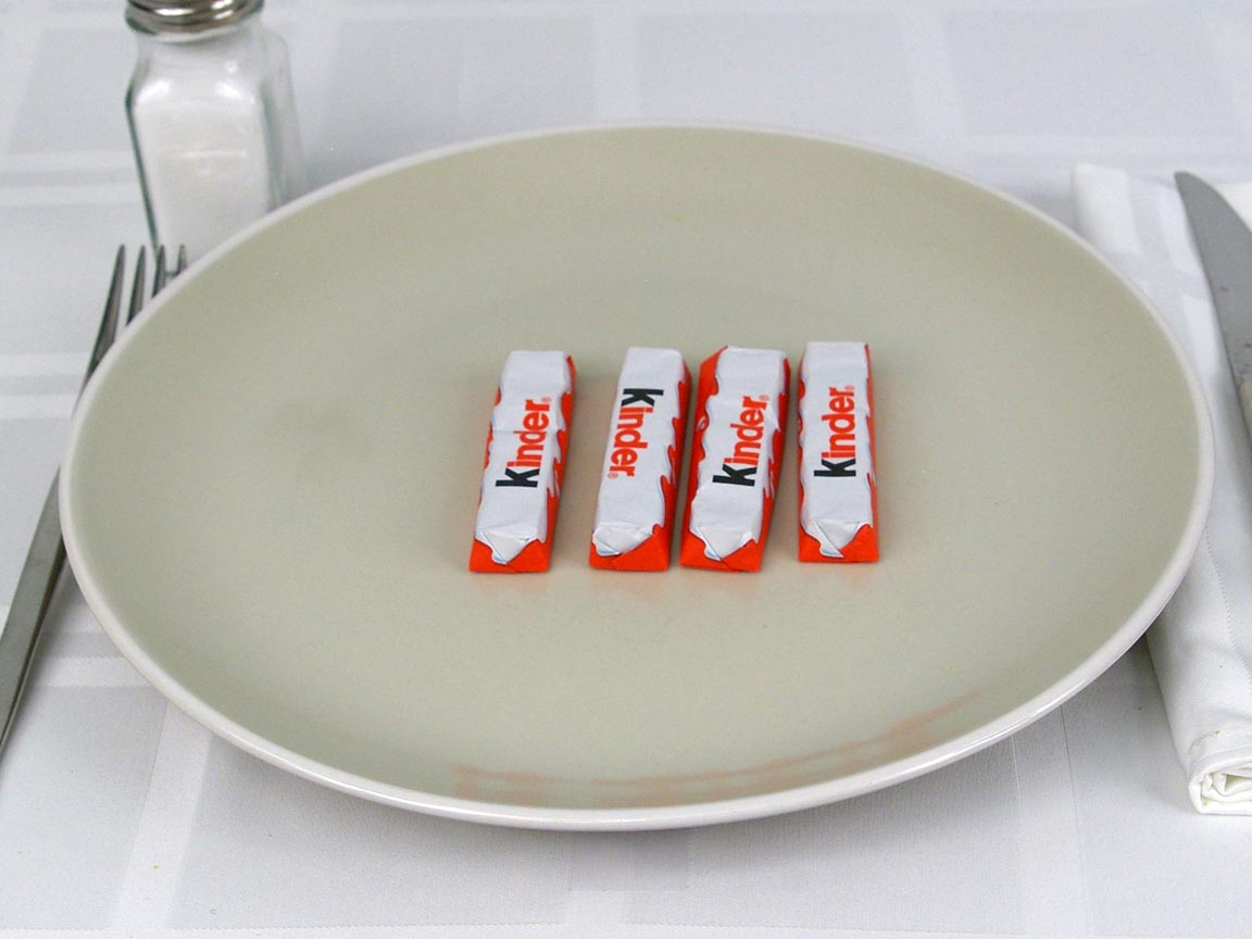 Calories in 4 ea(s) of Kinder Chocolate