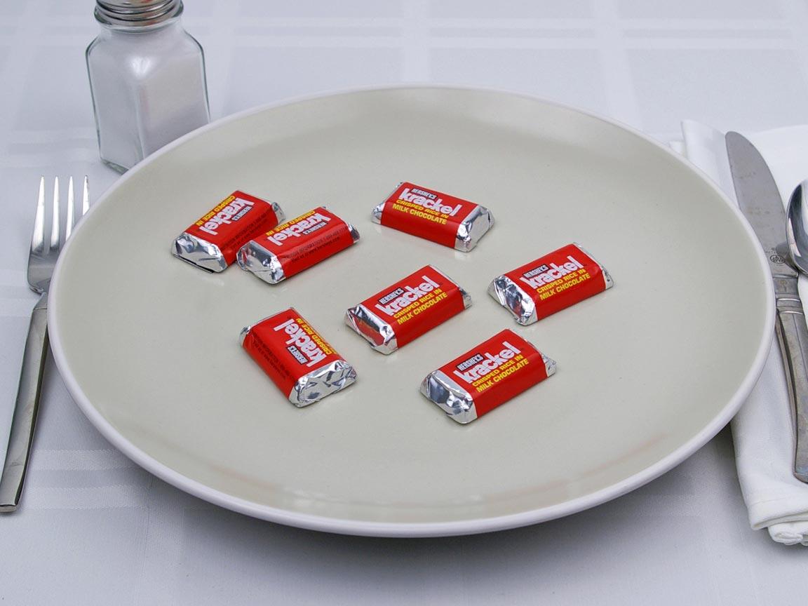 Calories in 7 mini(s) of Krackel Mini