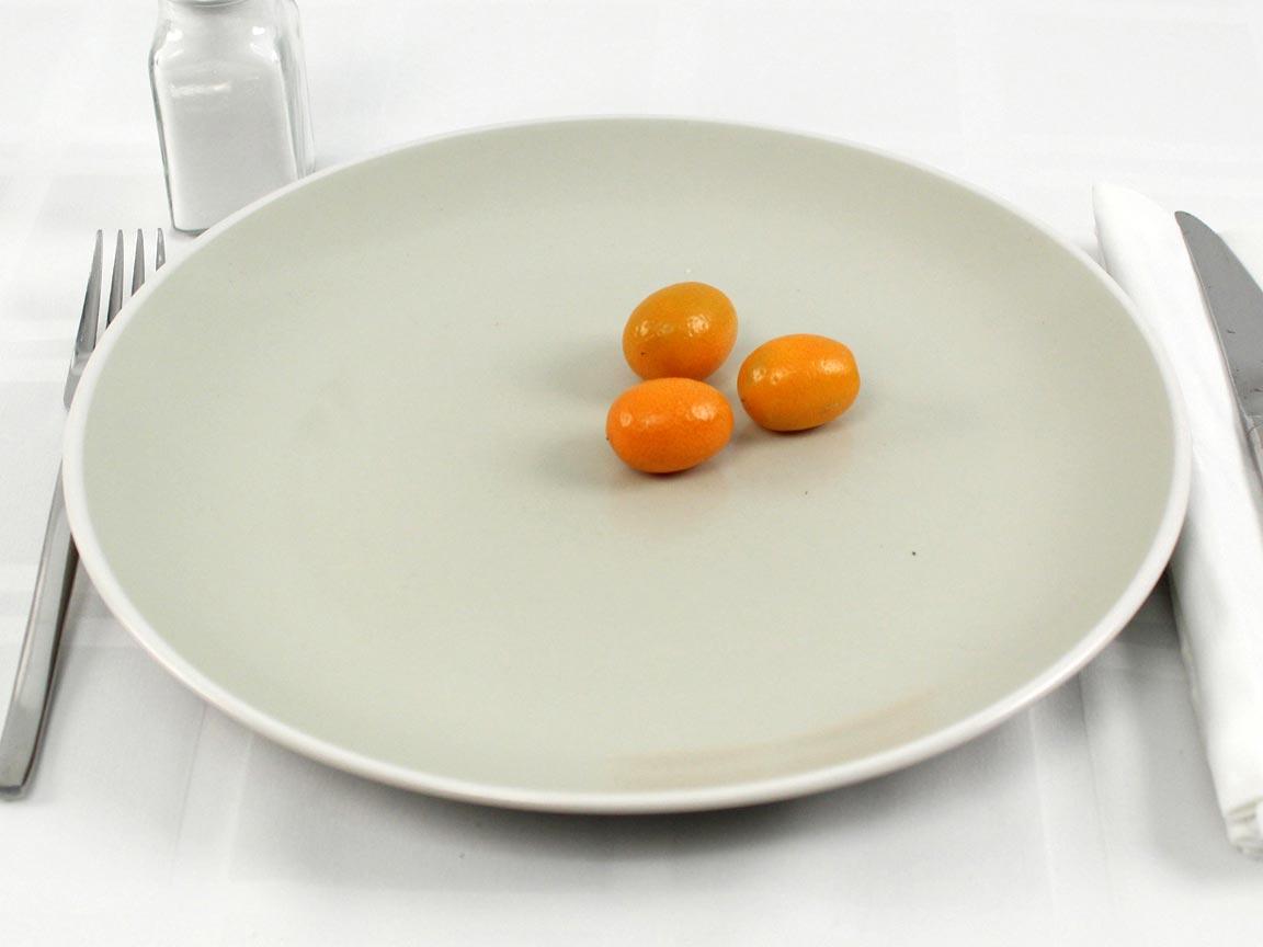 Calories in 3 fruit(s) of Kumquats Fresh