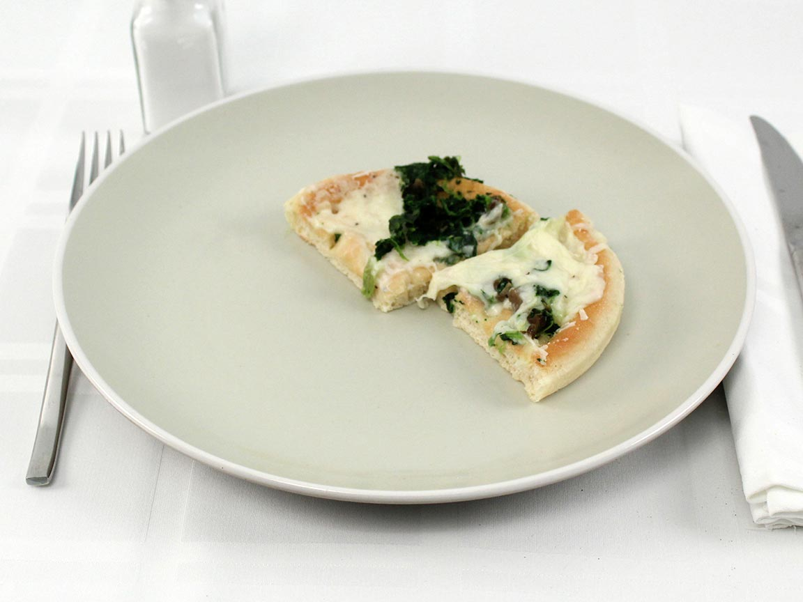 Calories in 0.5 package(s) of LC Deep Dish Pizza Spinach Mushroom