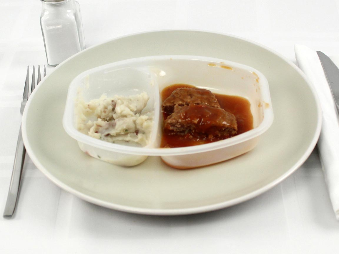 Calories in 0.5 package(s) of Lean Cuisine Meatloaf
