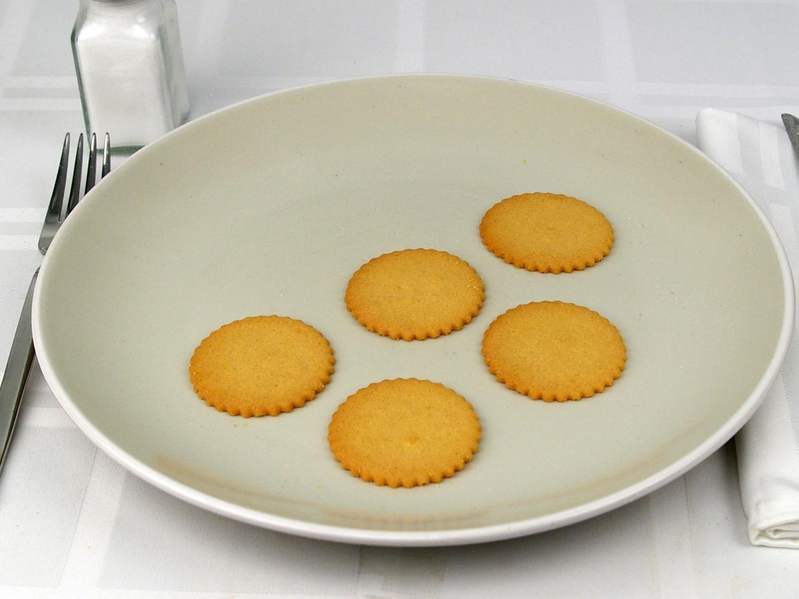 Calories in 5 cookie(s) of Cookie Thins - Lemon