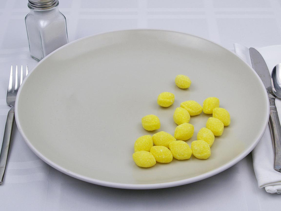 Calories in 16 piece(s) of Lemon Drops Candy